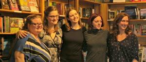(l to r) Beth Revis, Meagan Spooner, Lenore Appelhans, Victoria Schwab, Megan Shepherd