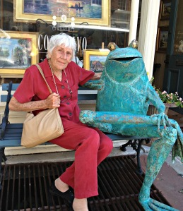 Grammy with frog