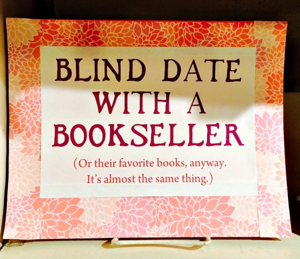 Blind Date with bookseller sign